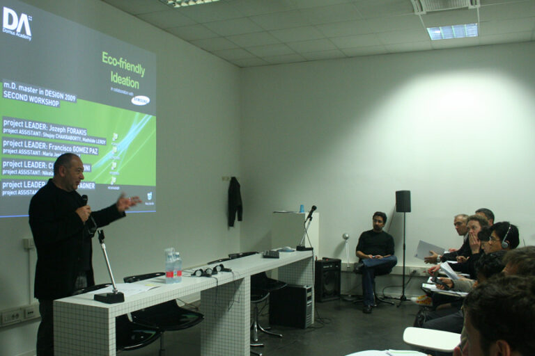 Sustainable Design Workshop in Collaboration with Samsung - Domus Academy Milano